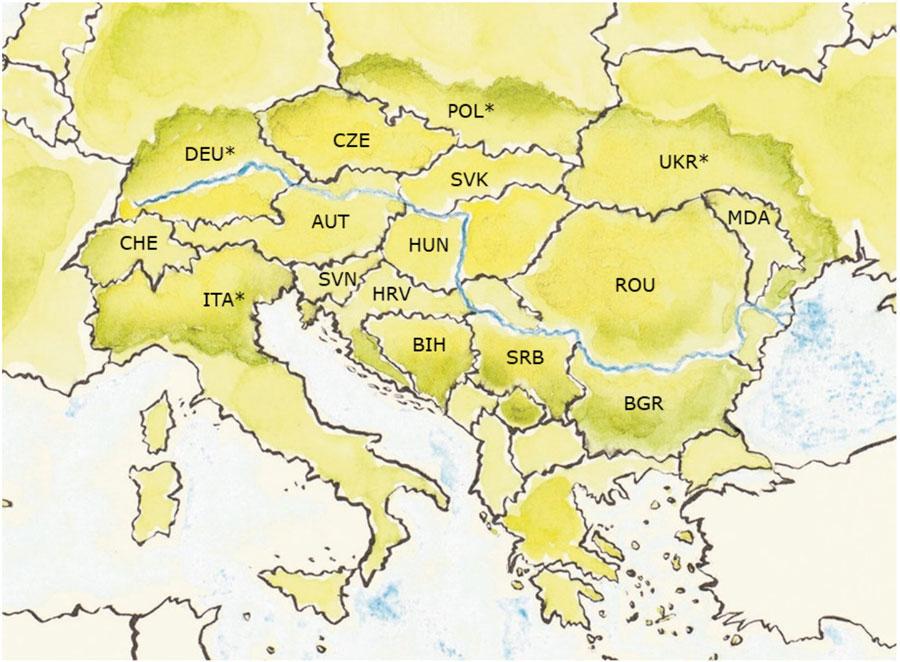 Obszary upraw soi w Europie