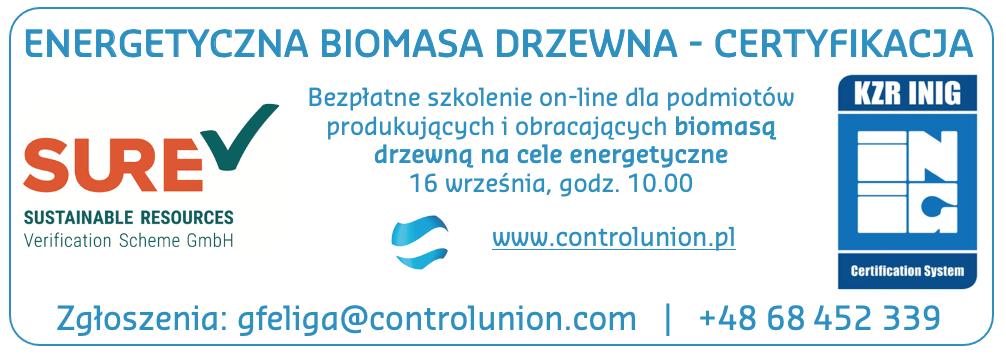 energetyczna biomasa drzewna - certyfikacja